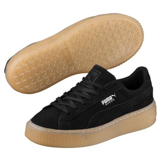 Puma Suede Platform Shoes Girls Black-Black (309VSNCI)