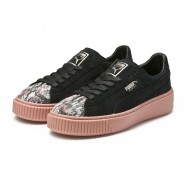 Puma Platform Shoes Womens Black-Peach Beige (314JQDVL)