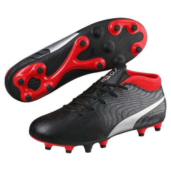 Chaussure Puma ONE Garcon Noir/Argent/Rouge (317CEAWO)