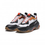 Puma Thunder Electric Lifestyle Shoes Mens White-Black-Mandarine Red (318SUVZP)