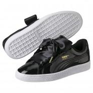 Puma Basket Heart Shoes Womens Black-Black (322YKGJF)