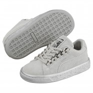 Puma Suede Classic Shoes Boys Gray Violet-Silver (334QYVBL)