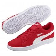Puma Smash Shoes Mens Ribbon Red-White (349SFQVW)