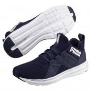 Puma Enzo Shoes Mens Peacoat-White (352CRJKW)