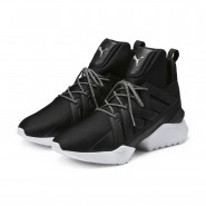 Puma Muse Shoes Womens Black-White (353BDEJG)