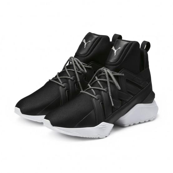 Puma Muse Shoes Womens Black-White (353BDEJG)