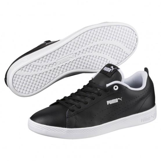 Puma Smash Shoes Womens Black-Black (354JUEPH)