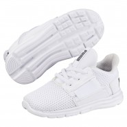 Puma Enzo Shoes Boys White-White-Iron Gate (356PUJST)