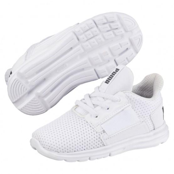 Puma Enzo Shoes Boys White-White-Iron Gate (356PUJST)