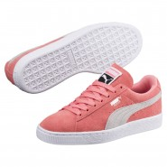 Puma Suede Classic Shoes Womens Shell Pink-Glacier Gray (362LSQFH)
