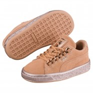 Puma Suede Classic Shoes Boys Dusty Coral-Rose Gold (373KVFIR)