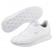 Puma Turin Shoes Boys White-White (392IZCAB)