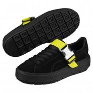 Puma Platform Shoes Womens Black-Black (401TCWAB)