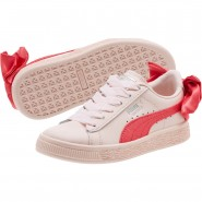 Puma Basket Bow Shoes Girls Paradise Pink-Paradise Pink (403MQGTH)