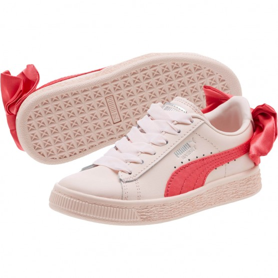 Puma Basket Bow Shoes Girls Paradise Pink-Paradise Pink (403MQGTH)