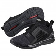 Puma IGNITE Limitless Running Shoes Mens Black-Silver (405QYMER)