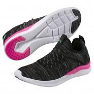Puma IGNITE Flash Running Shoes Womens Black-Pink-Biscay Green (412LXPYQ)