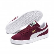 Puma Suede Classic Shoes Mens Cabernet-White (416RHZVA)