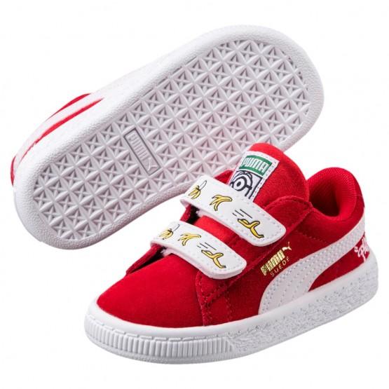 Puma Minions Shoes Boys High Risk Red-White (428SEZAI)