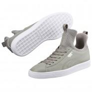 Puma Basket Fierce Shoes Womens Rock Ridge-White (434GSBXD)