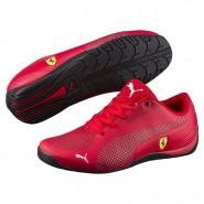 Puma Ferrari Shoes Boys Rosso Corsa-White (437CXWMZ)