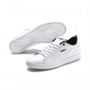 Puma Smash Shoes Womens White-White (445WPQRV)