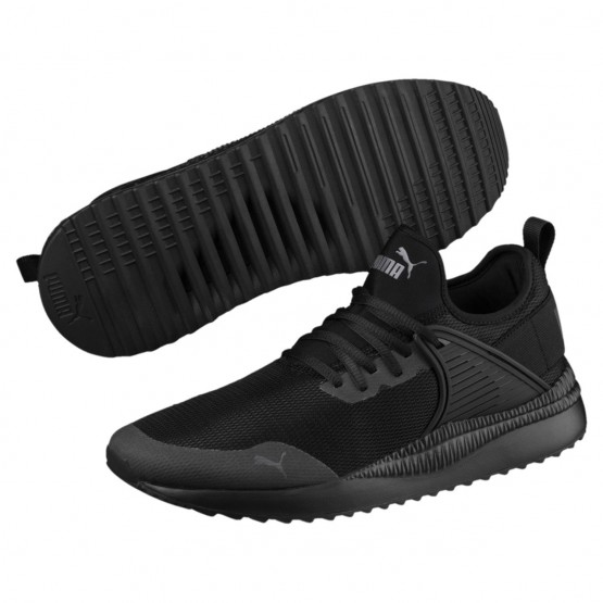 Puma Pacer Next Shoes Mens Black-Black (446GZMHS)