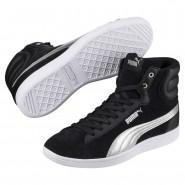Puma Vikky Shoes Womens Black-Silver (447CKZPM)