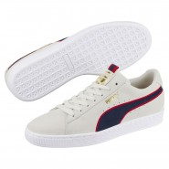 Puma Suede Classic Shoes Mens Vaporous Gray-Ribbon Red-Pea (451JPCQN)