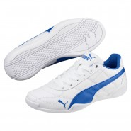 Puma Tune Cat 3 Shoes Boys White-Strong Blue (454XYDCS)