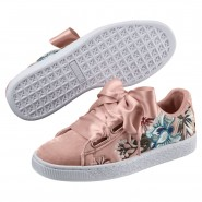 Puma Basket Heart Shoes Womens Peach Beige (455PDULM)