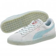 Puma Suede Classic Shoes Womens Blue-Aquifer-Pearl (461QGUNB)