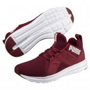 Puma Enzo Shoes Mens Pomegranate-White (462AWBHV)