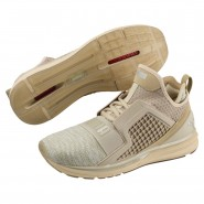 Puma IGNITE Limitless Running Shoes Mens Pebble-Whisper White (462RPKON)