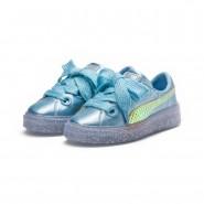 Puma x SOPHIA WEBSTER Shoes Womens Metallic Blue-Fluo Orange (467JVBUR)