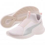 Puma Rebel Mid Shoes Girls Pearl-Silver (483YVGKC)