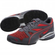 Puma Tazon Modern Shoes Mens Asphalt-Flame Scarlet (490HWNCL)