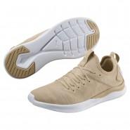 Puma IGNITE Flash Running Shoes Womens Pebble-Whisper White-White (494MZTEV)