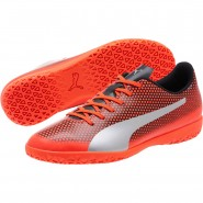 Puma Spirit Indoor Shoes Mens Red-Silver-Black (508SHKXB)