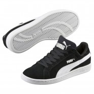 Puma Smash Shoes Boys Black-White (513WCREY)