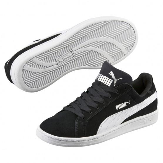 Puma Smash Shoes Boys Black-White (513WCREY)