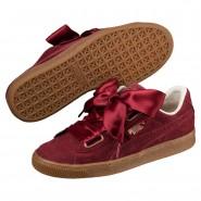 Puma Basket Heart Shoes Womens Pomegranate-Pomegranate (520KDJXL)