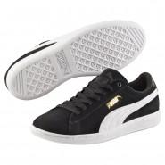 Puma Vikky Shoes Womens Black-White (522KVSFU)