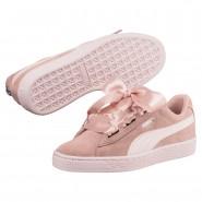 Puma Suede Heart Shoes For Girls Beige (523XNCJG)