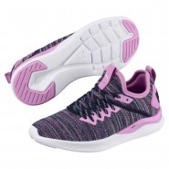 Puma IGNITE Flash Shoes Boys Orchid-Peacoat (526MFPTL)