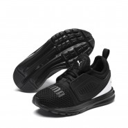 Puma Limitless Shoes Girls Black-White (528WJCED)
