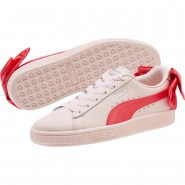 Puma Basket Bow Shoes Girls Paradise Pink-Paradise Pink (530BDOVS)