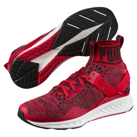 Puma IGNITE evoKNIT Shoes Mens Red-Quiet Shade-Black (535HPIQA)
