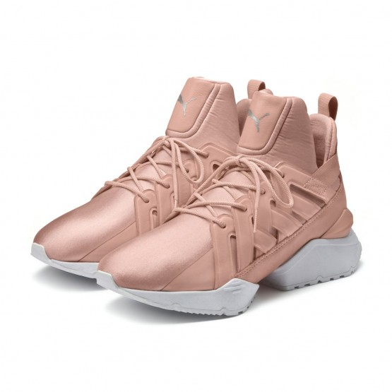 Puma Muse Shoes Womens Peach Beige-White (541OPBYF)