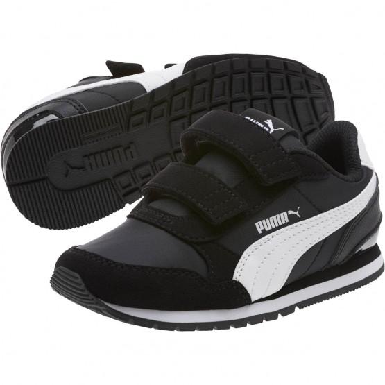 Puma ST Runner v2 Shoes Boys Black-White (543KLRZO)
